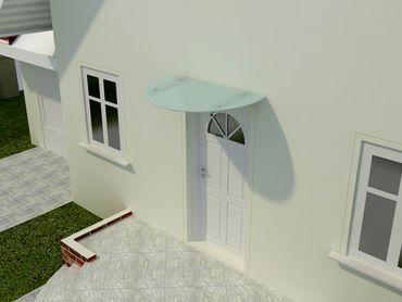 Glasvordach Dolomiten 90 cm – Bild 3