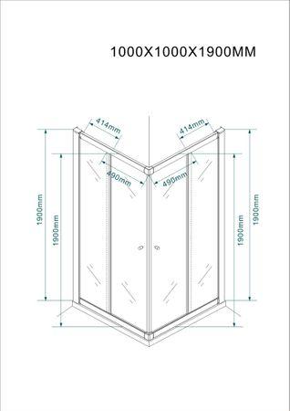 Glasdusche Werra Set 5 cm – Bild 8
