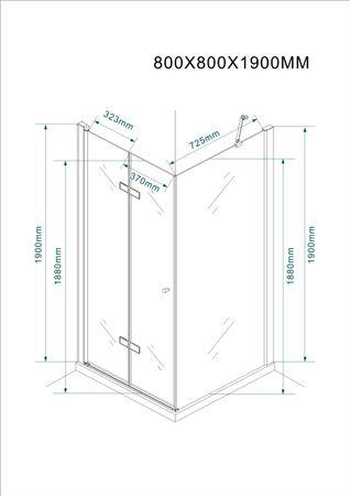 Glasdusche Leine Set 5 cm – Bild 6