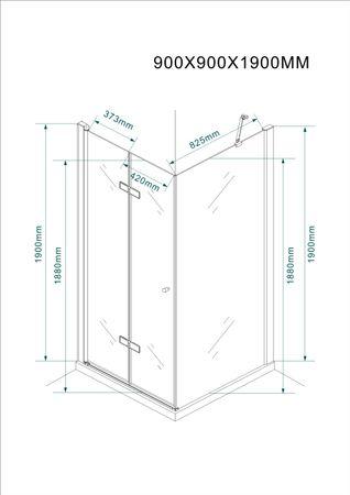 Glasdusche Leine Set 5 cm – Bild 7