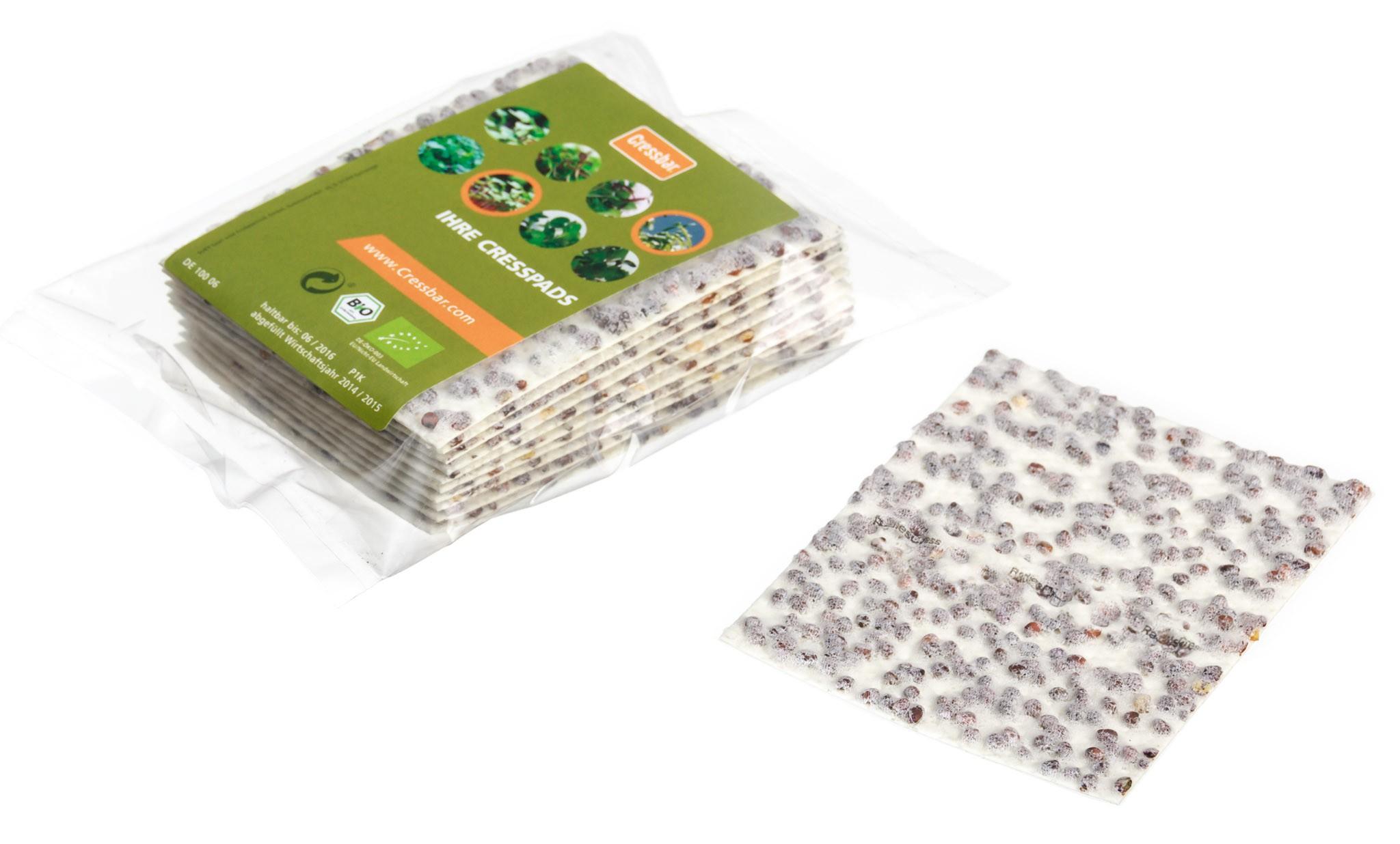Cressbar® Cresspads – praktisches Nachfüllpack der Kresse-Einleger für frische Kresse in den Geschmacksrichtungen Radieschen, Rucola, Senf und Gartenkresse Bild 2