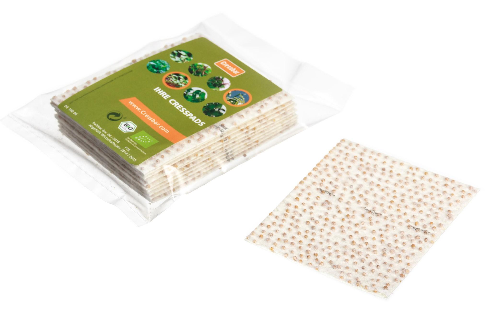 Cressbar® Cresspads – praktisches Nachfüllpack der Kresse-Einleger für frische Kresse in den Geschmacksrichtungen Radieschen, Rucola, Senf und Gartenkresse Bild 4