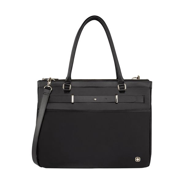 Zoe 16 Zoll Women's Expandable Laptop Tote with Tablet Pocket, Schwarz