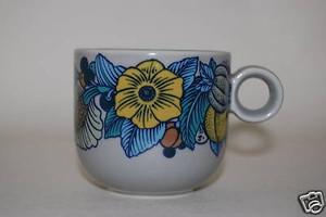 Kaffeetasse Terra Prato blau grau  Rosenthal