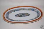 Platte 33,5 cm  gross Burgund Goebel