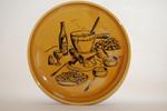 Teller Abdeckplatte Cuisson A 11508 Fondue Gien France