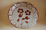 Schale 32,5/5cm Blume Braun Cerasada
