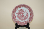 Untertasse Kaf 14,3cm Country Style rot  Grindley Staffordshire England