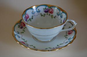 Kaffeegedeck 2-teilig Bunt Antik 4901 Tuscan China England