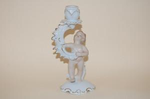 Kerzenleuchter klein 1-armig Putto Putte Putter Figur Wallendorf