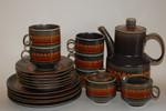 Kaffeesercice Service 19- tlg. Keramik Retro unbekannt