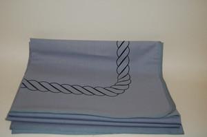 Tischdecke Decke Tischwäsche 155x130cm grau Corda Nera Thomas NEU