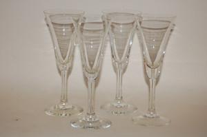 4 Aperitifgläser Likörgläser-Set 6,5/16cm Glas Unbekannt