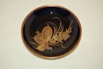 Konfektteller 10,5 cm unbekannt kobalt Goldblume Hutschenreuther CM
