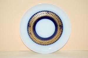 Untertasse 14,5 cm Rotunda kobalt Goldbordüre Thomas