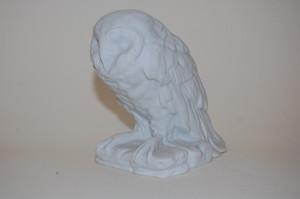 Eule 769 10 cm Figur weiss Biskuit  Kaiser Porzellan