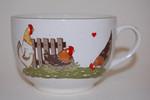 Teetasse bzw. Kaffeetasse 9cm Glückliche Hühner Pfalzkeramik