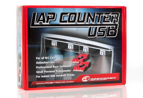 RS161 / Robitronic / LapCountSystem USB VERSION  / Zeitnahme System / 3 Autotransponder inklusive