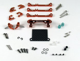 PN Racing Mini-Z V3 MR03/PNR2.5W Double A-Arm Front Suspension (orange)
