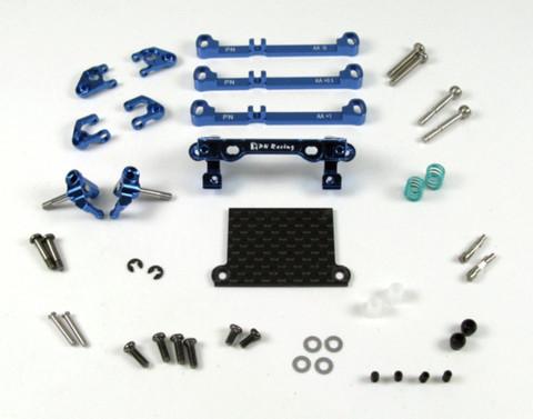 PN Racing Mini-Z V3 MR03/PNR2.5W Double A-Arm Front Suspension (blau)