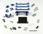 PN Racing Mini-Z V3 MR03/PNR2.5W Double A-Arm Front Suspension (blau)