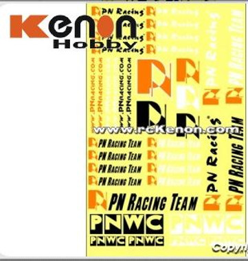 PN Racing PNWC and Team Water Decal