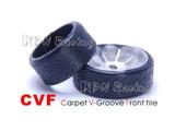 PN / F 10Deg / Narrow / Vorderradreifen / PN Racing Mini-Z CARPET V-Groove Front Tire 10 Degree (1pair)