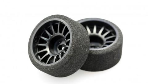 X-Power  / FOAM /  VERY SOFT/ Offset +1 /rear - hinten - breit /  Moosgummireifen mit Kunststofffelge