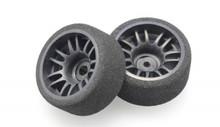 X-Power / FOAM / SOFT/ Offset +3 / rear - hinten - breit /  Moosgummireifen mit Kunststofffelge 001