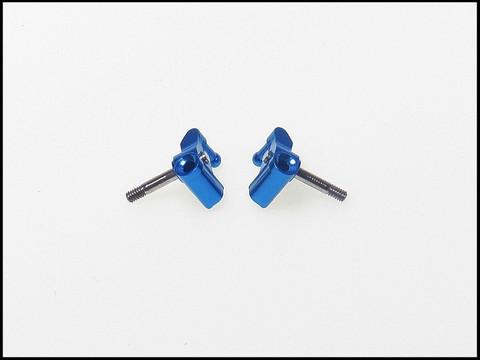PN / MR03 / Double A-Arm / PN Racing Mini-Z MR03 Double A-Arm Knuckle ( BLUE - BLAU ) - 1Paar der LENKNUCKLE
