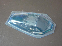 SC-ENZO bl | SRCC / Mini-Z Lexan Super Light Weight Window / Ferrari Enzo / Lexan 0.20 / transparent blau 001