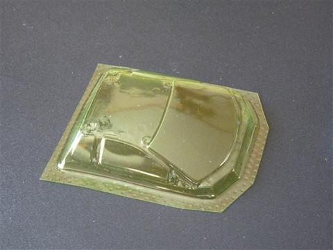 SRCC / Mini-Z Lexan Super Light Weight Window / Lamborghini Murcielago / Lexan 0,2 / transparent gelb