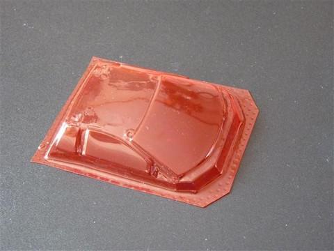 SRCC / Mini-Z Lexan Super Light Weight Window / Lamborghini Murcielago / Lexan 0,2 / transparent rot