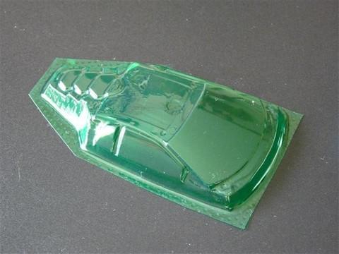 SRCC / Mini-Z Lexan Super Light Weight Window / Lamborghini Murcielago LP670 Version / Lexan 0.20 / transparent grün
