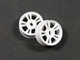 ATM / AWD Mini-Z / AWD T.S Rims WIDE (0.0*) - White / 1Paar! / ABS Kunststoff