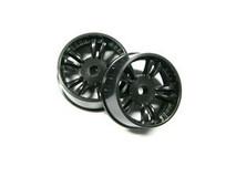 ATM / AWD Mini-Z / AWD T.S Rims WIDE (1.0*) - Black / 1Paar! / ABS Kunststoff 001