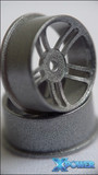 *XP / dNaNo / Racing Wheels, Five Star / 19R  / SILBER / 2St. / Kunststoff 002