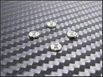 PN Racing Aluminum M2 Countersunk Washer SILVER SILBER (4pcs) 001