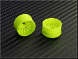 PN Felge / HINTEN +2 / D 20mm / Mini-Z 2WD Machine Cut 16 Spoke Rear Wheel / Yellow