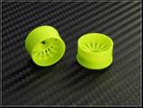 PN Felge / HINTEN +1 / D 20mm / Mini-Z 2WD Machine Cut 16 Spoke Rear Wheel / Yellow