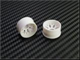 PN Felge / HINTEN +1 / D 20mm / Mini-Z 2WD Machine Cut  BBS  Rear Wheel / WEISS - white