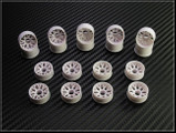 "PN Felge / HINTEN +3 / D 20mm / Mini-Z 2WD Machine Cut ""BBS"" Rear Wheel / WEISS - white"