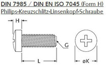 MC/ M3x5 / 1x / Kunststoffschraube Ph-Kreuzschlitz-Linsenkopf / 33707 - DIN 7985 PA H M 3x 5 mm - PA, SCHWARZ 001
