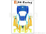 Aufkleber Set (Skin) / PN Racing Mini-Z Body Skin Lexus SC430 Type 1