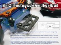 PN Carbon Fiber Adapter / McLaren F1 LANG! / FRONT / VORNE 002