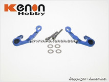 PN MR03 - Alu Adjust. Caster Upper Arm 1 Camber / blau 001