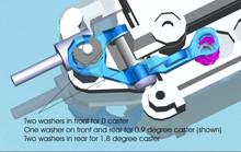 PN MR03 - Alu Adjust. Caster Upper Arm 2 Camber / blau 002