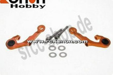PN MR03 - Alu Adjust. Caster Upper Arm 0 Camber / orange 001
