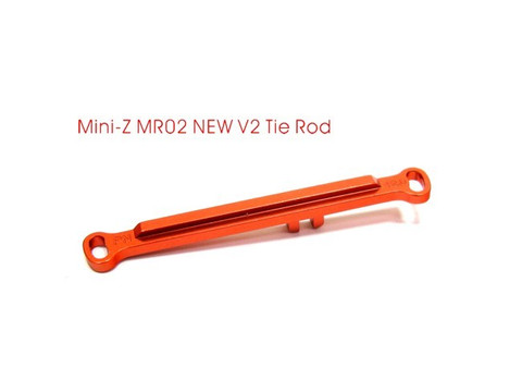 PN MR02 Alu Lenkstange / -0.5 / Toe Out Tie Rod / orange