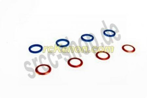 PN / Color M3.4 Alm Shims Set (T0.2 T0.5 @4pcs) - FRONT Distanzscheiben